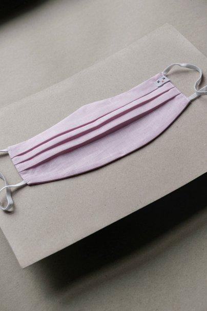 ochranne-rousky Ochranná maska, 2vrstvá (70% bavlna, 30% len), unisex, světle růžová