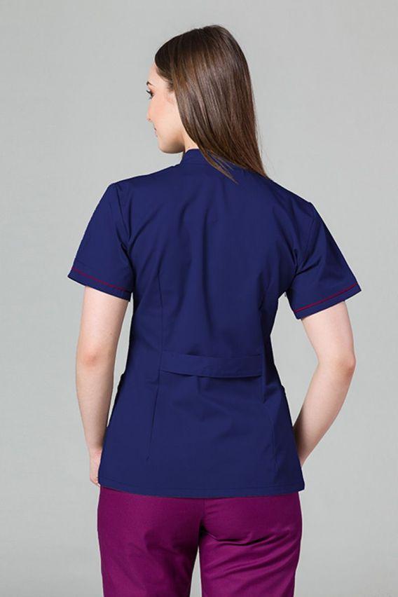 zakiety Lékařské sako 01 Sunrise Uniforms námořnická modř s malinovým lemem