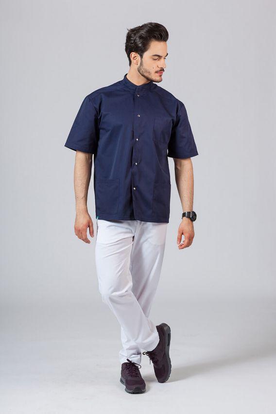 bluzy-medyczne-meskie Pánská zdravotnická košile/halena se stojatým límečkem námořnická modř