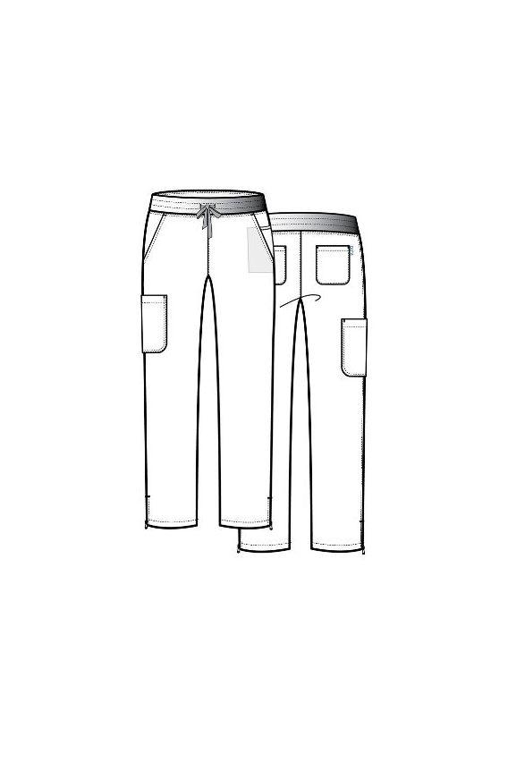 spodnie-medyczne-damskie Lékařské kalhoty Maevn Pure Modern Yoga růžové