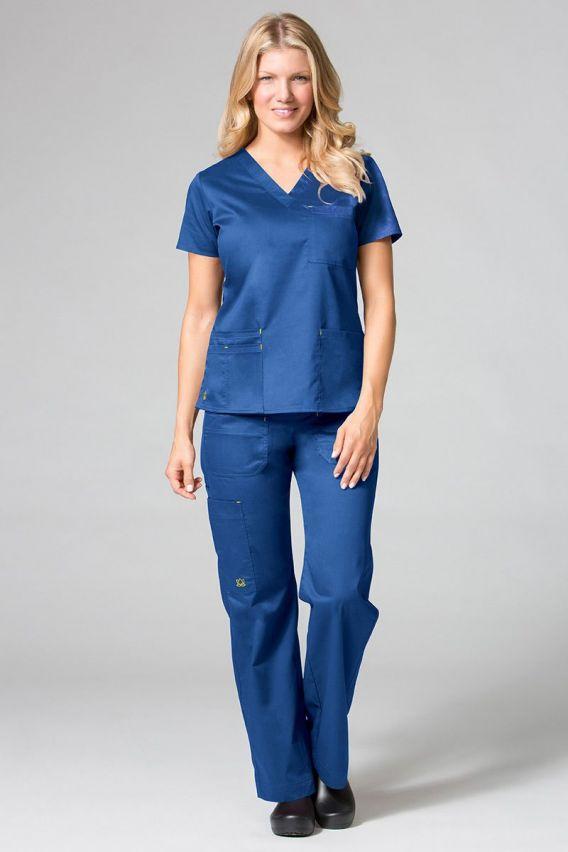 bluzy-medyczne-damskie Lékařská halena Maevn Blossom (elastic) královsky modrá