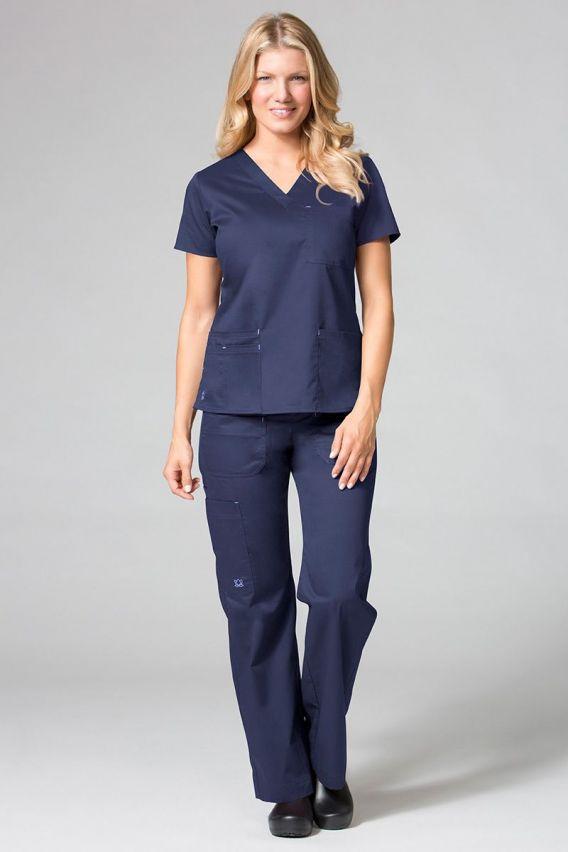 bluzy-medyczne-damskie Lékařská halena Maevn Blossom (elastic) námořnická modř