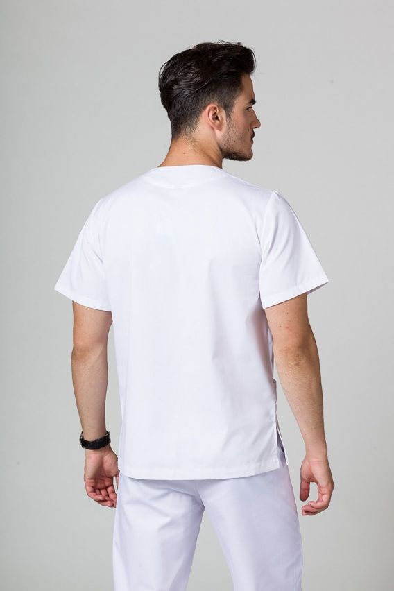 bluzy-medyczne-meskie Univerzální lékařská mikina Sunrise Uniforms bílá