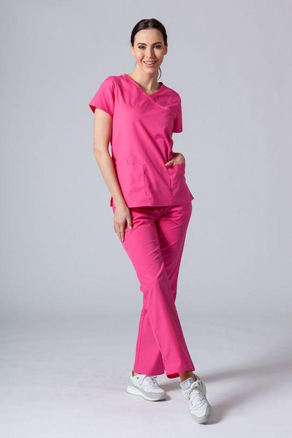 bluzy-medyczne-damskie Lékařská halena Maevn Red Panda Asymetric růžová