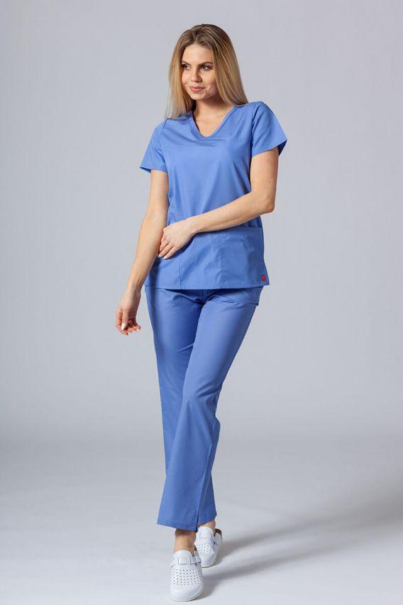bluzy-medyczne-damskie Lékařská halena Maevn Red Panda Asymetric klasicky modrá