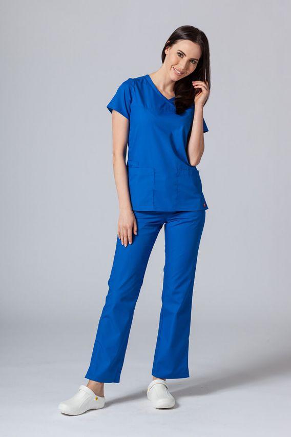 bluzy-medyczne-damskie Lékařská halena Maevn Red Panda Asymetric královský granát