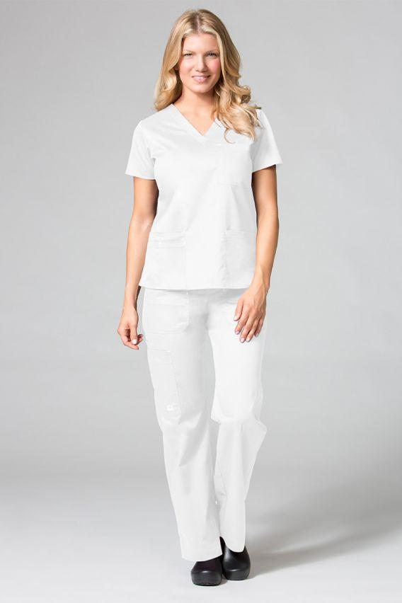 spodnie-medyczne-damskie Lékařské kalhoty Maevn Blossom (elastic) bílé