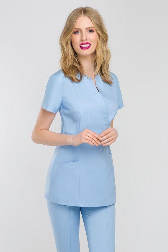 bluzy-2 Zdravotnická / kosmetická zástěra na zapínání Vena Spa 4 modrá