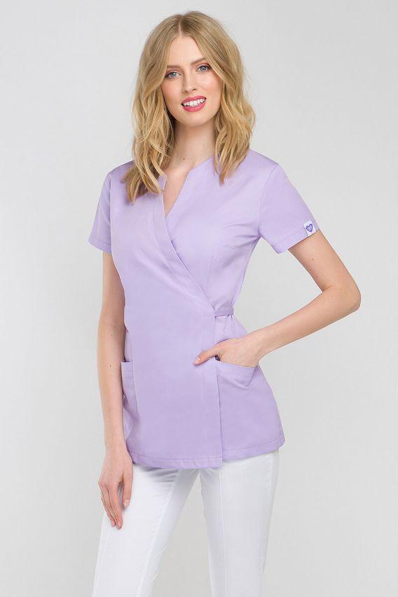 bluzy-2 Zdravotnická / kosmetická zástěra na zapínání Vena Kate levandulová