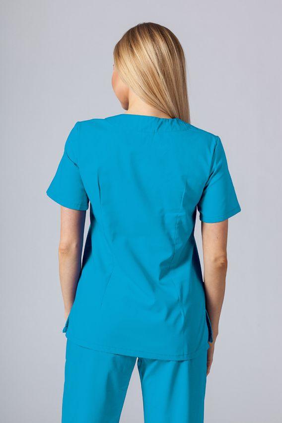bluzy-medyczne-damskie Lékařská halena Sunrise Uniforms tyrkysová promo