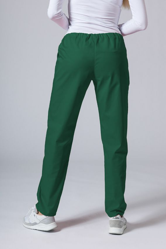 spodnie-medyczne-damskie Univerzální lékařské kalhoty Sunrise Uniforms lahvově zelená