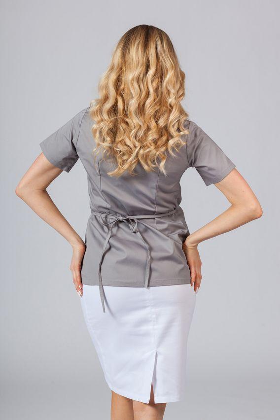 bluzy-medyczne-damskie Zástěra/dámská halena s vázáním Sunrise Uniforms šedá