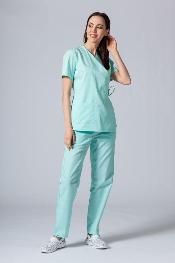 bluzy-medyczne-damskie Zástěra/dámská halena s vázáním Sunrise Uniforms mátová