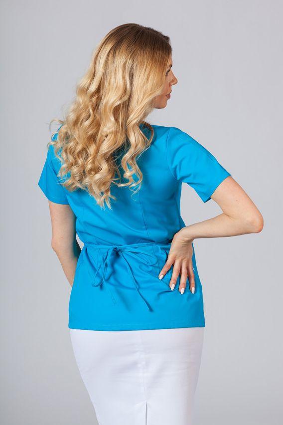bluzy-medyczne-damskie Zástěra/dámská halena s vázáním Sunrise Uniforms tyrkysová