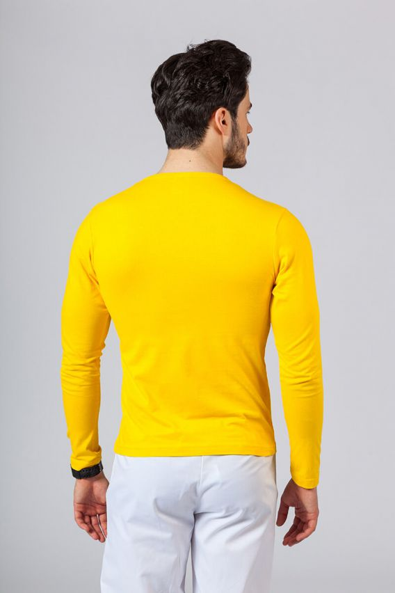 s-dlouhym-rukavem Pánské tričko s dlouhým rukávem Malfini žluté