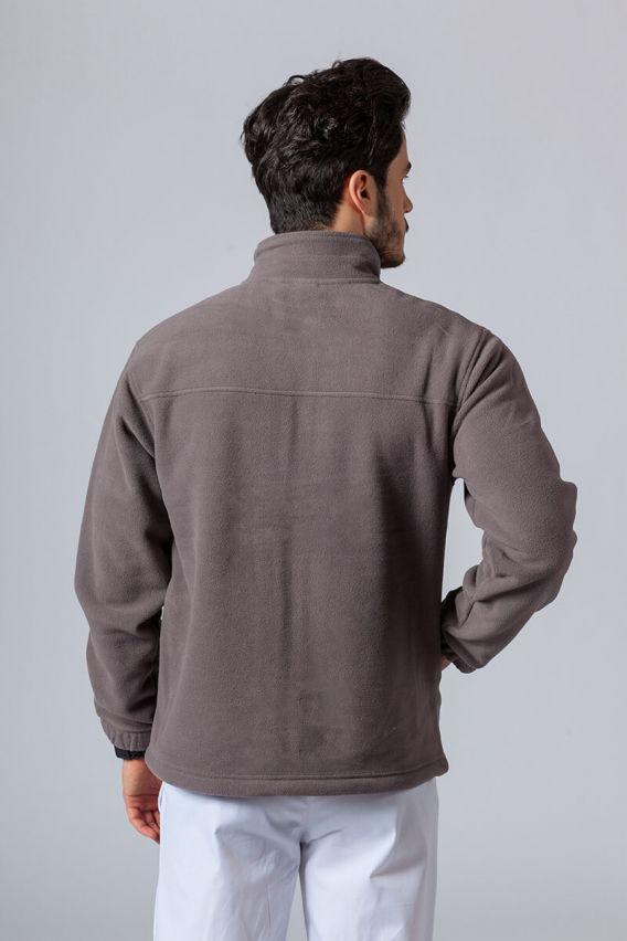 bluzy-polarowe-meskie Pánská mikina tmavě šedá