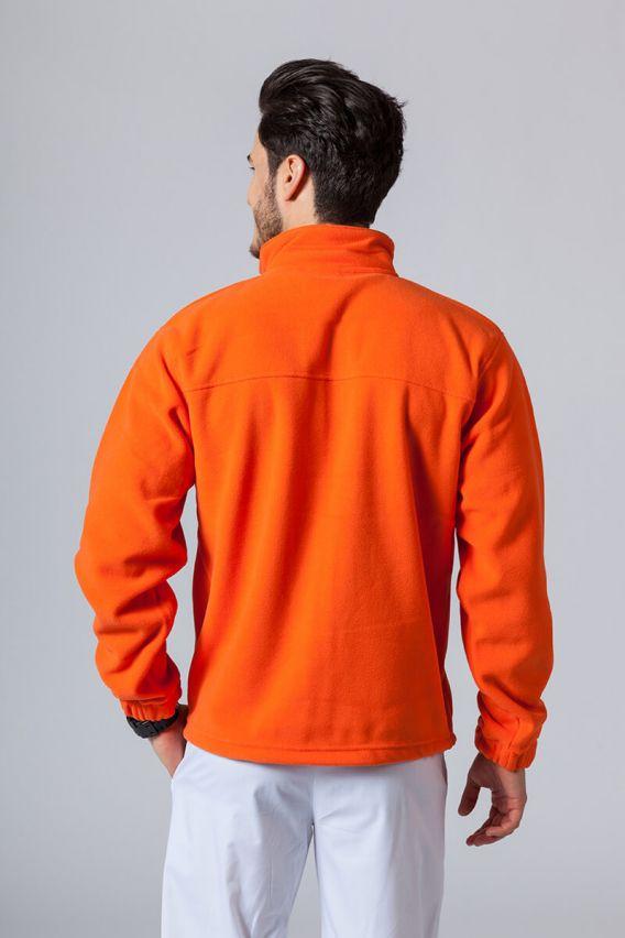 bluzy-polarowe-meskie Pánská mikina oranžová
