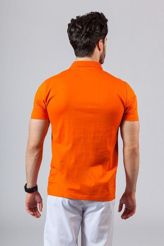 koszulki-medyczne-meskie Pánské Polo tričko oranžová