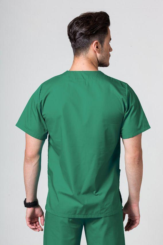 bluzy-medyczne-meskie Univerzální lékařská mikina Sunrise Uniforms tmavě zelená