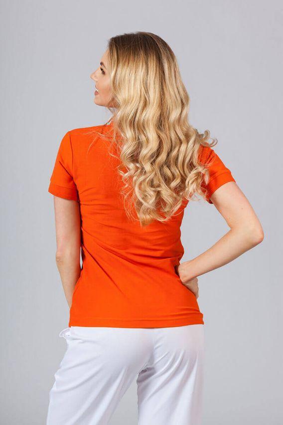 polo-damskie Dámské polo triko lahvově oranžové