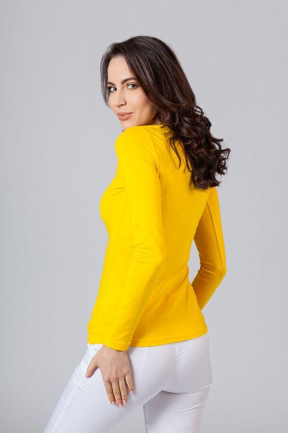 koszulki-medyczne-damskie Dámské tričko s dlouhým rukávem žluté