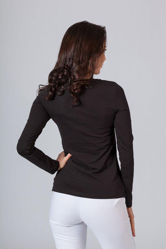 tricka-2 Dámské tričko Malfini s dlouhým rukávem černé