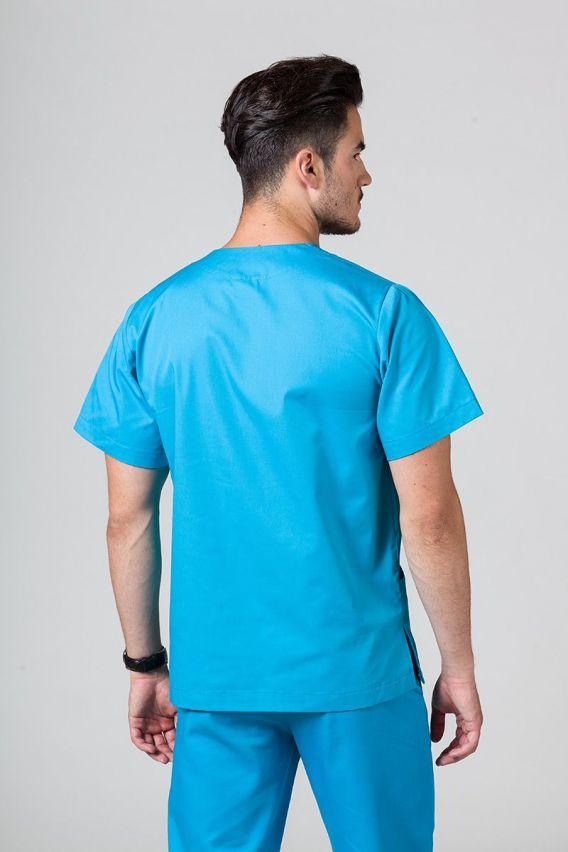 bluzy-medyczne-meskie Univerzální lékařská mikina Sunrise Uniforms tyrkysová