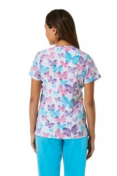 bluzy-we-wzory Lékařská halena Maevn Prints motýly