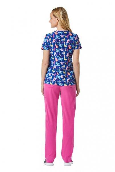 bluzy-we-wzory Lékařská halena Maevn Prints barevná zvířátka