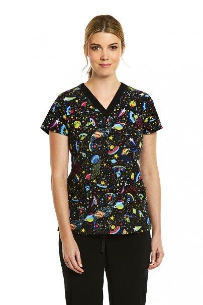 bluzy-we-wzory Lékařská halena Maevn Prints ne z tohoto světa