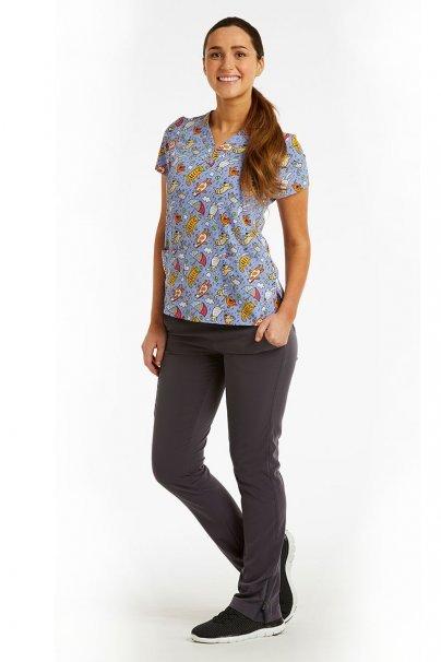 bluzy-we-wzory Barevná dámská halena Maevn Prints hřiště