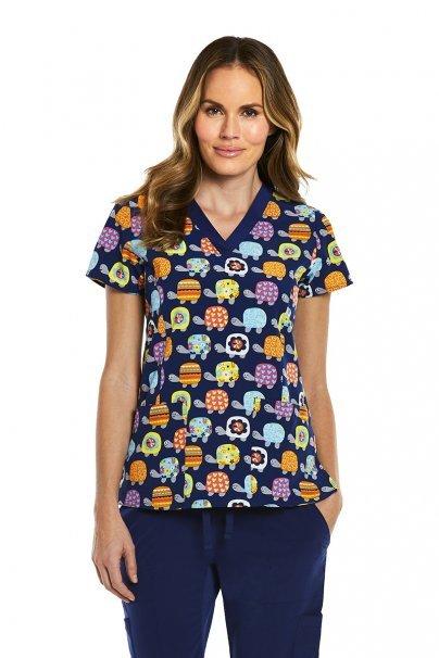 bluzy-we-wzory Lékařská halena Maevn Prints barevné želvy