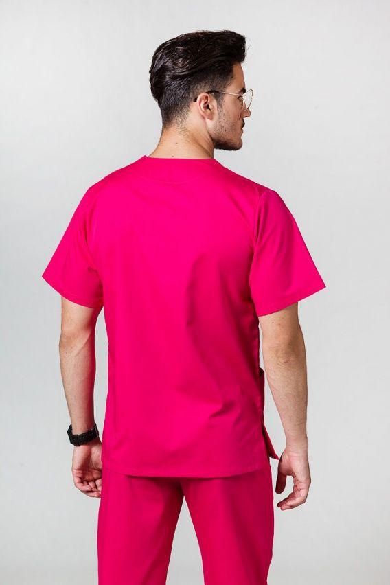 bluzy-medyczne-meskie Univerzální lékařská mikina Sunrise Uniforms malinová
