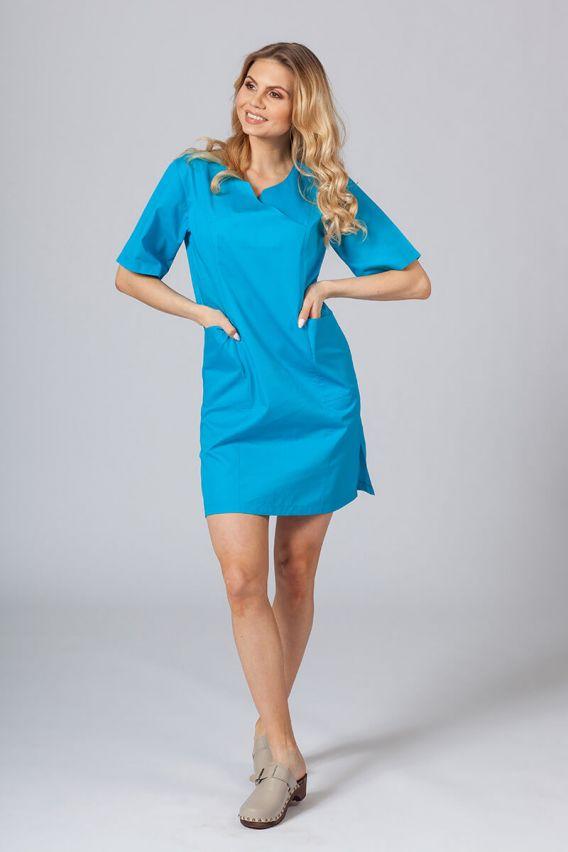 saty-1 Lékařské Klasické šaty Sunrise Uniforms tyrkysové