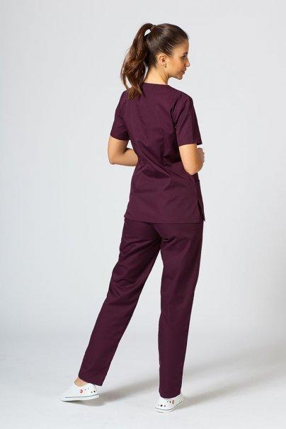 komplety-medyczne-damskie Zdravotnická souprava Sunrise Uniforms burgundová