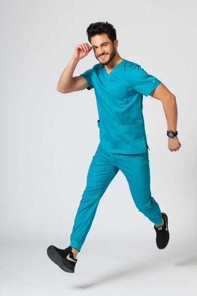bluzy-1-1 Pánská lékařská halena Maevn Matrix Men mořsky modrá