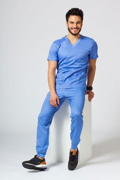 bluzy-1-1 Pánská lékařská halena Maevn Matrix Men klasicky modrá