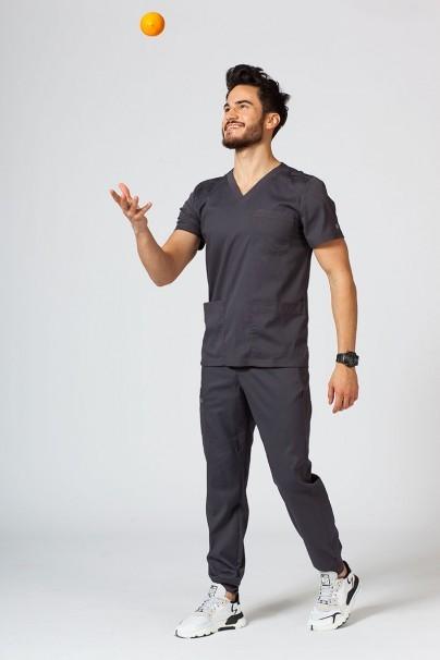 bluzy-1-1 Pánská lékařská halena Maevn Matrix Men šedá