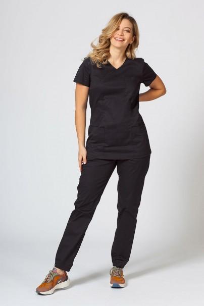 bluzy-2 Dámská lékařská halena Sunrise Uniforms Fit (elastická), černá