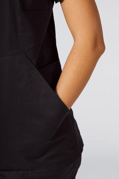 bluzy-2 Dámská zdravotní halena Sunrise Uniforms Kangaroo (elastická), černá