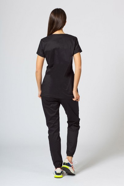 soupravy Zdravotnická souprava Sunrise Uniforms Active černá (s halenou Kangaroo - elastic)