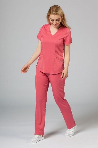 kalhoty-1-1 Dámské kalhoty Adar Uniforms Leg Yoga růžové