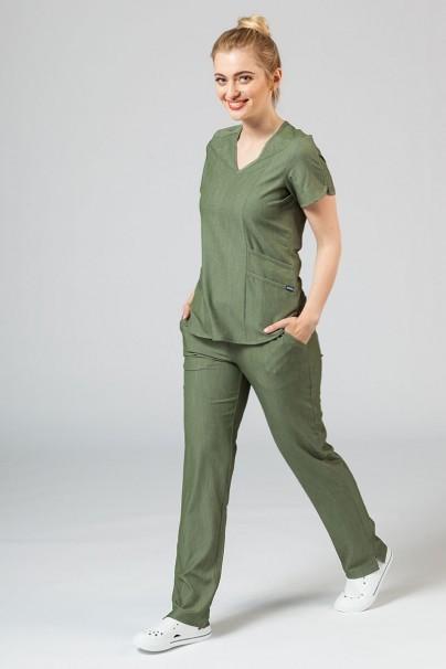 kalhoty-1-1 Dámské kalhoty Adar Uniforms Leg Yoga olivkové