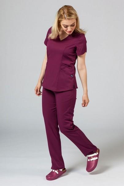 kalhoty-1-1 Dámské kalhoty Adar Uniforms Leg Yoga třešňové