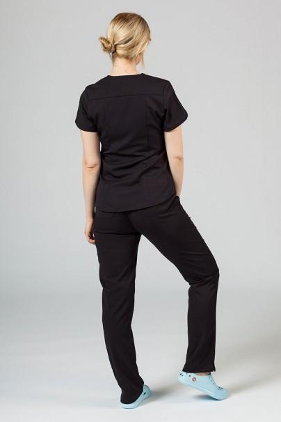 soupravy Zdravotnická souprava Adar Uniforms Yoga černá (s halenou Modern - elastic)