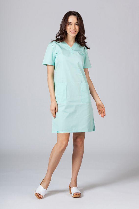 saty-1 Lékařské Jednoduché šaty Sunrise Uniforms mátové