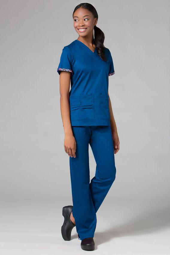 spodnie-medyczne-damskie Lékařské kalhoty Maevn PrimaFlex královsky modré
