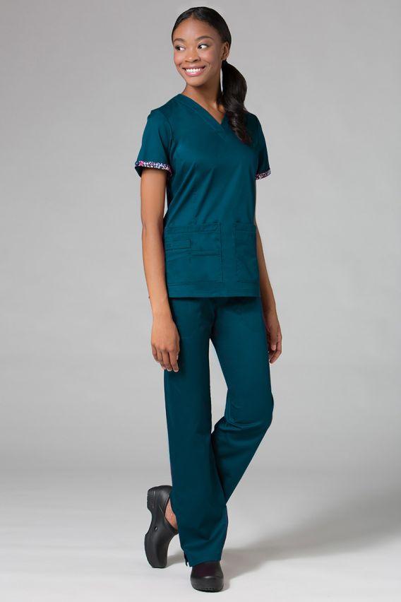 spodnie-medyczne-damskie Lékařské kalhoty Maevn PrimaFlex karibsky modré
