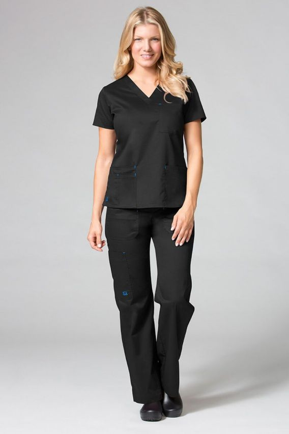 bluzy-medyczne-damskie Lékařská halena Maevn Blossom (elastic) černá
