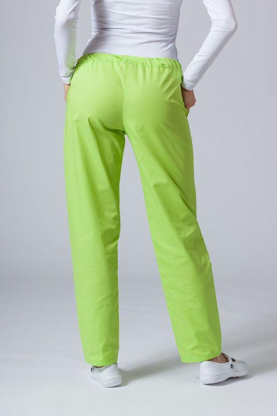 spodnie-medyczne-damskie Univerzální lékařské kalhoty Sunrise Uniforms limetkové